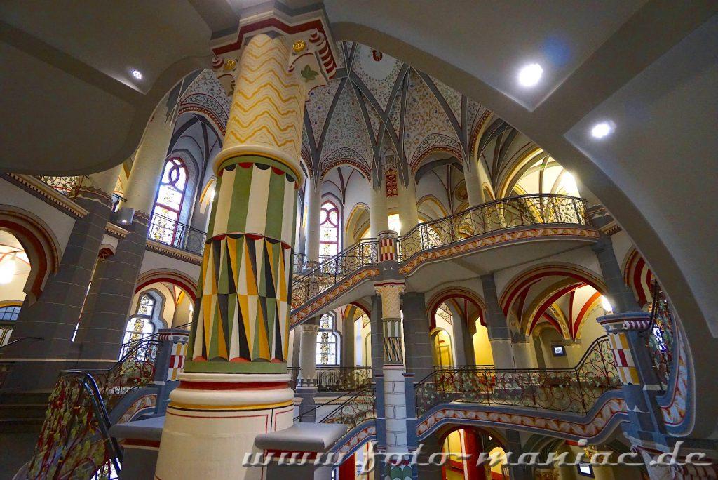Prachtvolles Landgericht in Halle mit interessanten Details