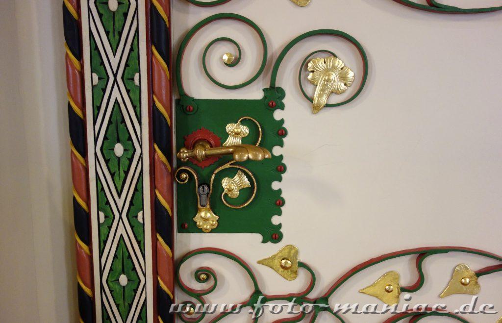 Jede Türklinke im prachtvollen Landgericht in Halle ist anders gestaltet