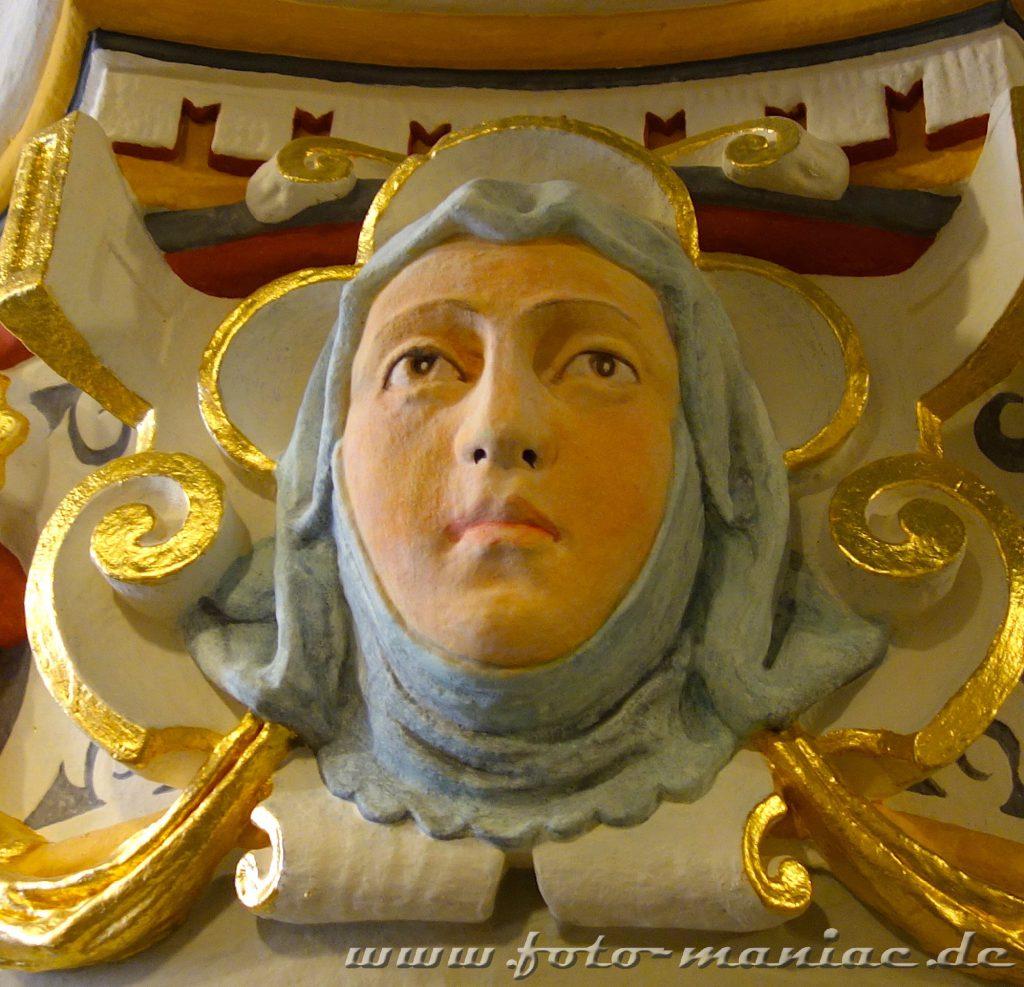 Schmuck-Ornament im Landgericht Halle