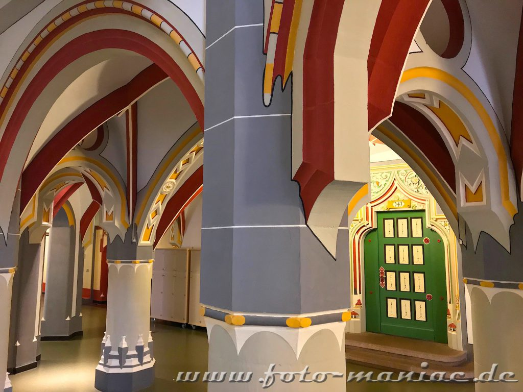 Treppenhaus im prachtvollen Landgericht in Halle