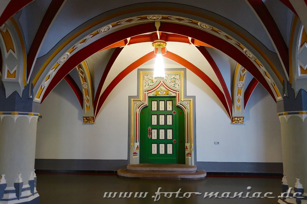 Im prachtvollen Landgericht in Halle