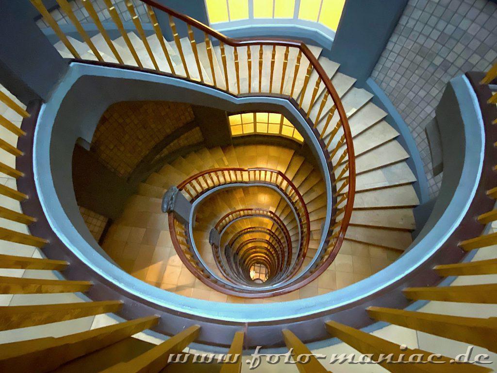 Hamburgs schöne Spiralen kann man im Meßberghof sehen