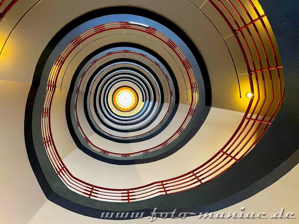 Hamburgs schöne Spiralen sieht man auch im Sprinkenhof