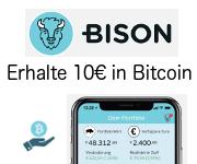 BISON App erhalte 10€ in Bitcoin kostenlos for free