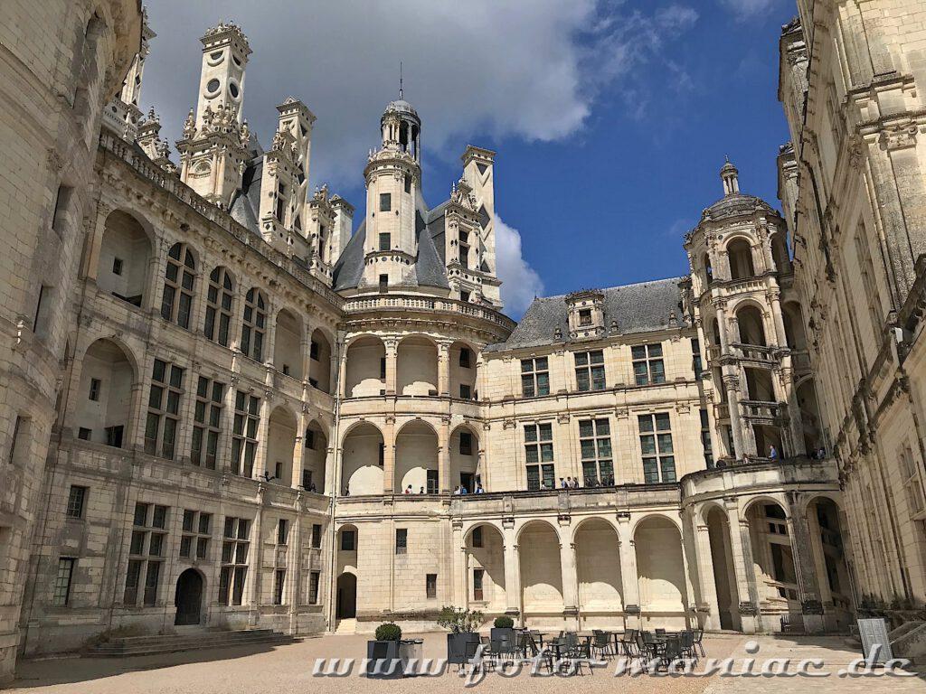 I Innenhof von Chateau Chambord