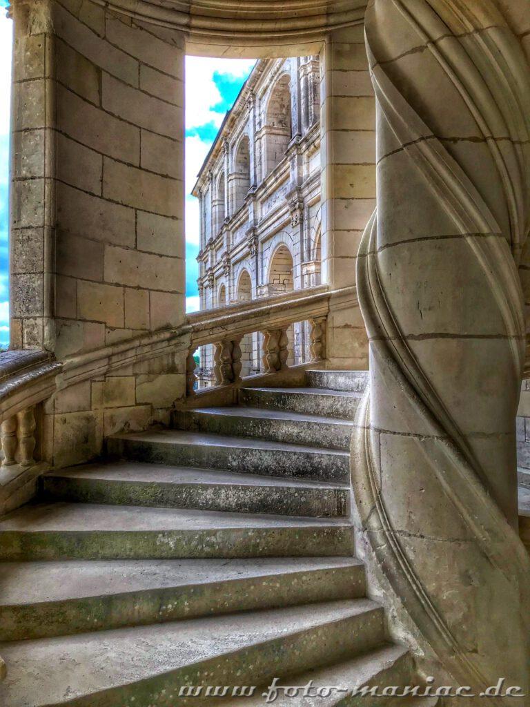 Wendeltreppe im majestätischen Chateau Chambord