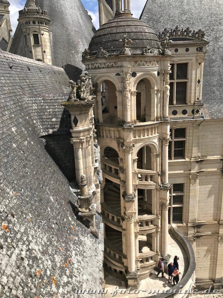 Außenwendeltreppe von Chateau Chambord
