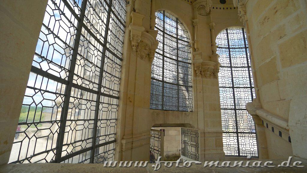 Opulentes Treppenhaus im majestätischen Chateau Chambord