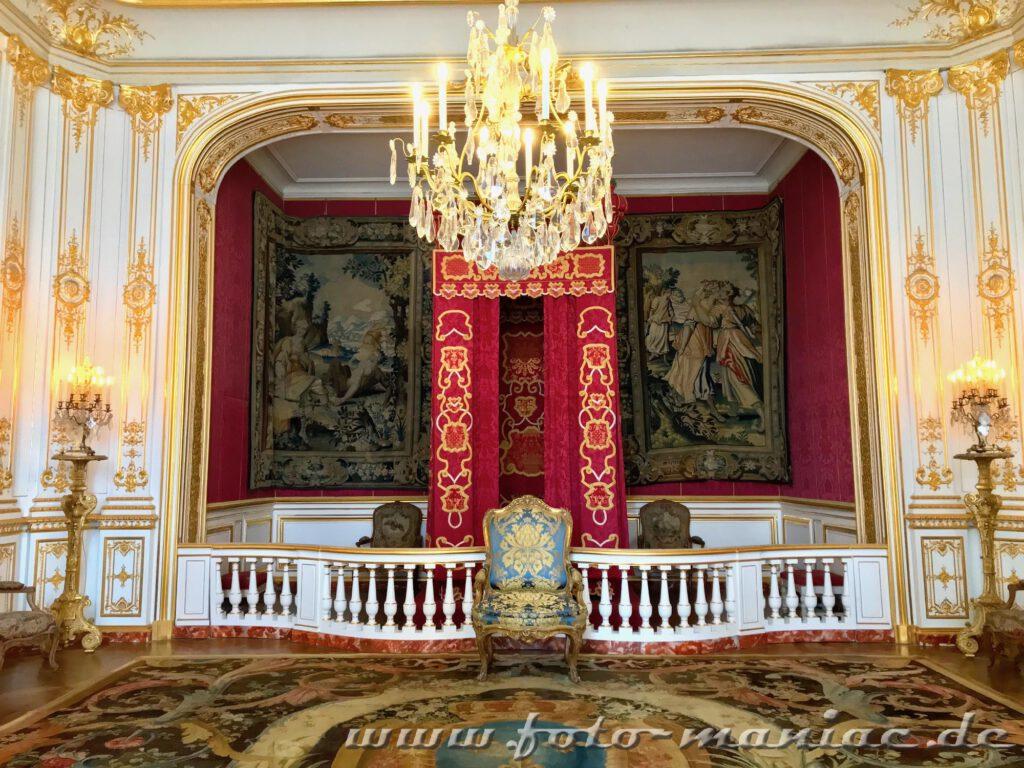 Prunkgemach von Louis XIV. im Chateau Chambord