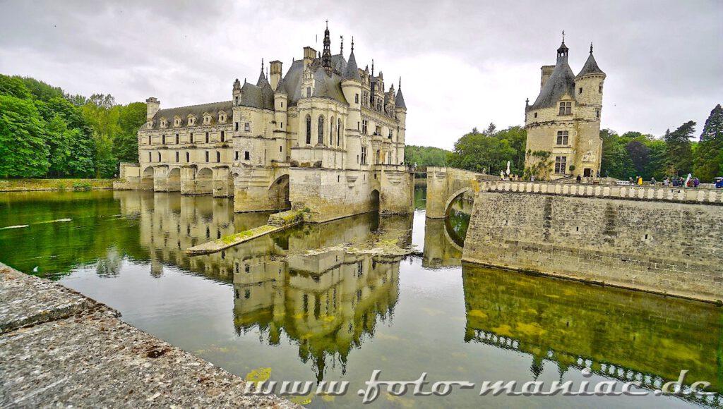 Das idyllische Chateau Chenonceau mit der 60 Meter langen Galerie