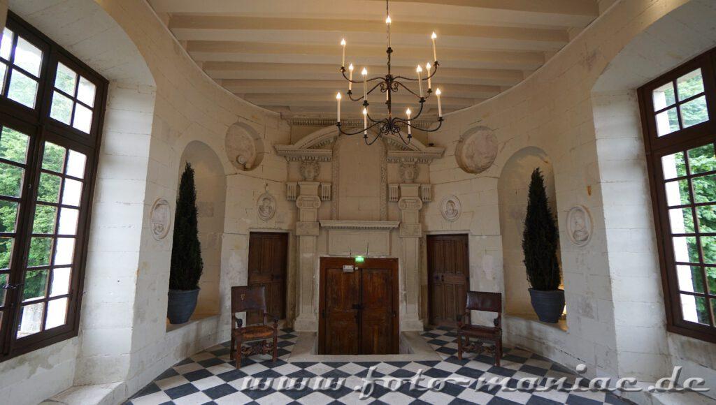 In der Galerie von Chateau Chenonceau
