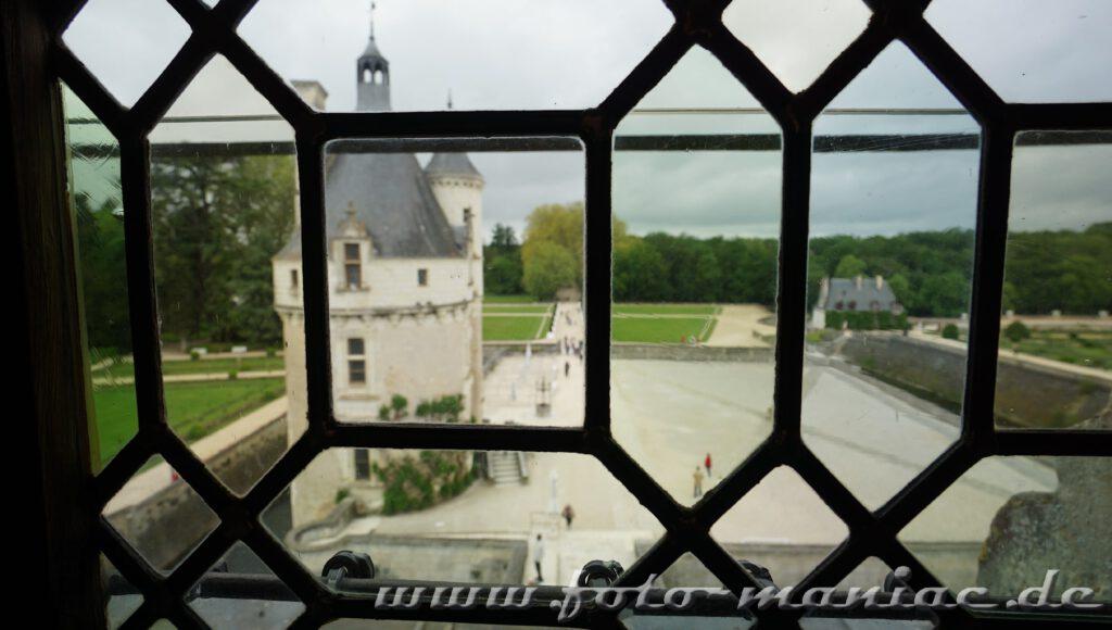 Blick aus Chateau Chenonceau zum Bergfried