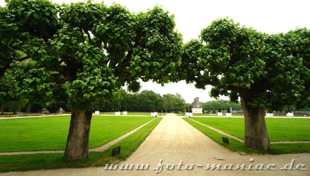 Eine Gartenanlage auf Chateau Chenonceau