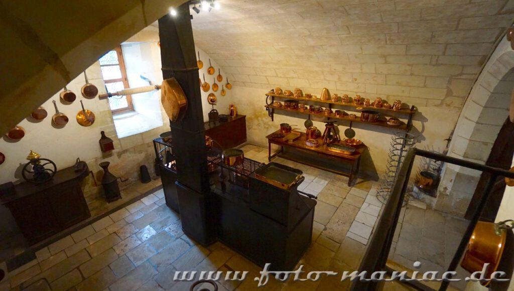 Blick in die Küche von Chateau Chenonceau
