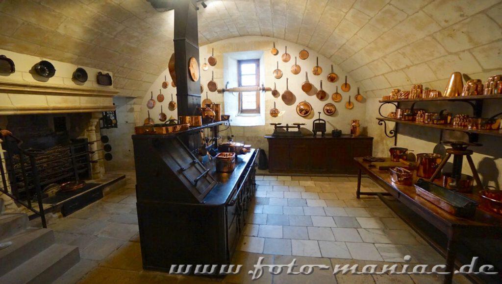 Küche im Chateau Chenonceau