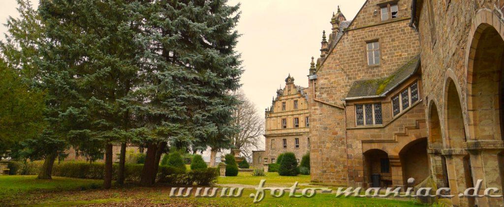 Blick vom Garten auf Schloss Vitzenburg