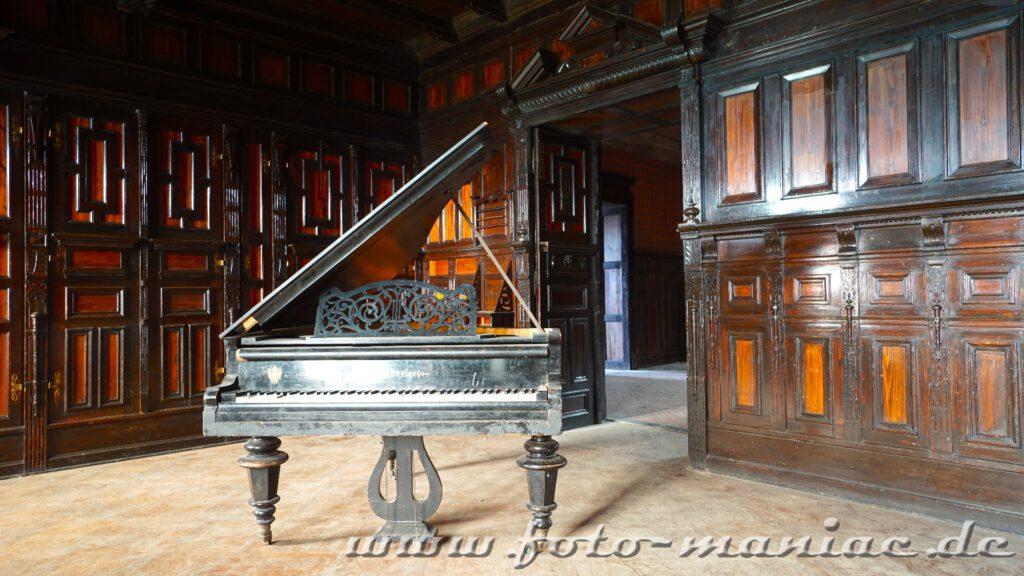 Flügel in einem Raum vom traumhaften Schloss Vitzenburg