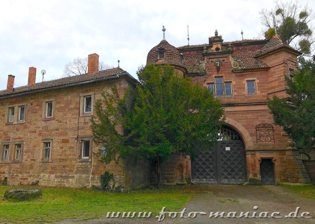Der Haupteingang vom traumhaften Schloss Vitzenburg