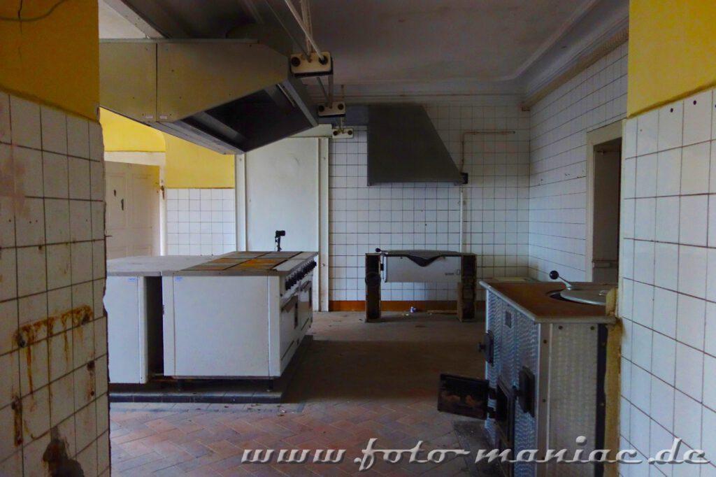 Blick in die Küche von Schloss Vitzenburg