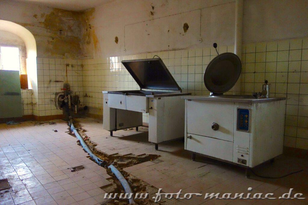 In der Küche des traumhaften Schlosses Vitzenburg