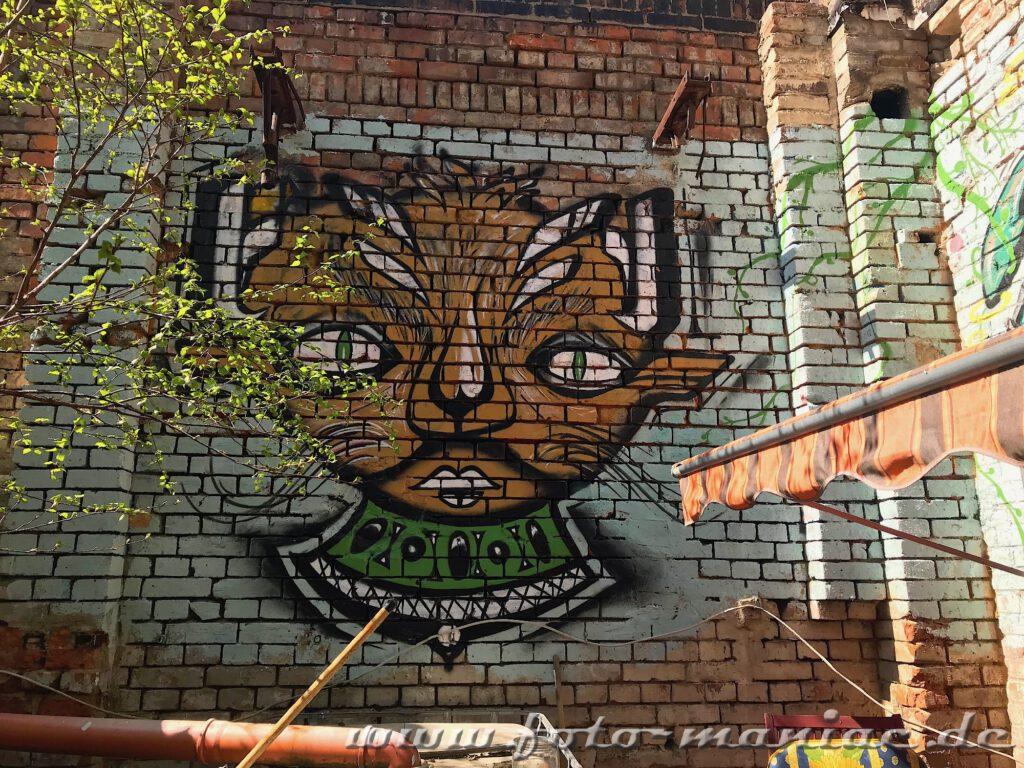 Katzenähnliches Graffito