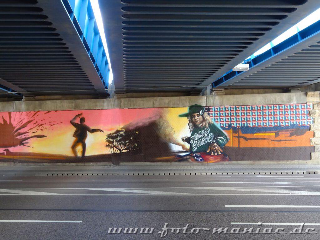 Graffiti auf der Wand einer Unterführung