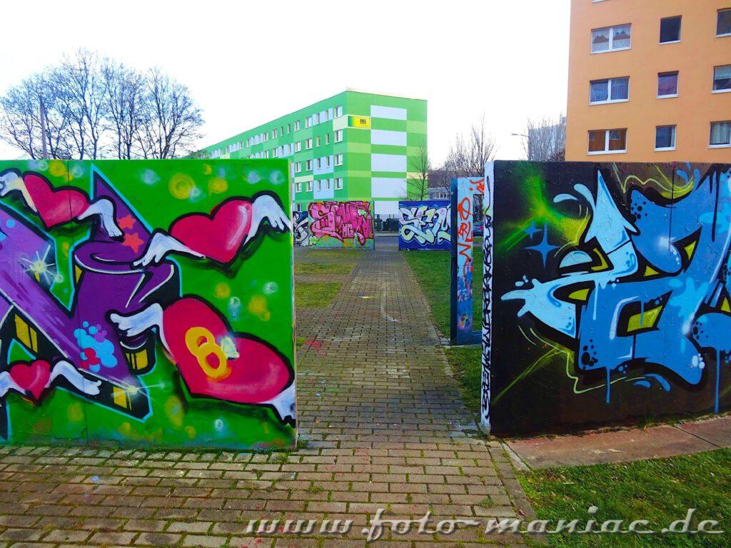Graffiti-Mauern