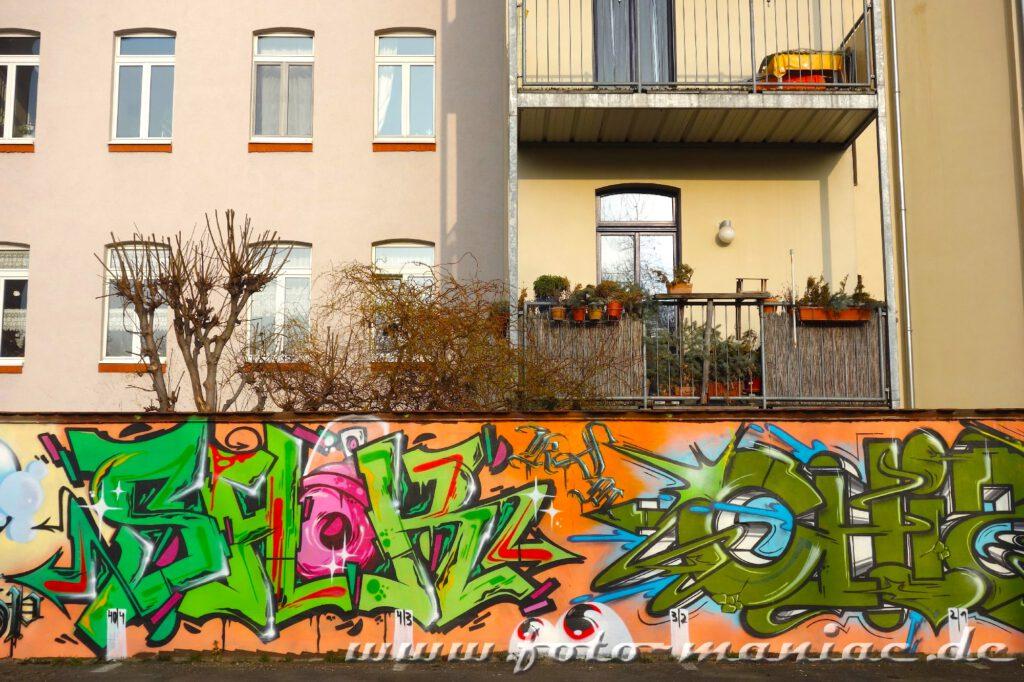 Graffito auf einer Mauer
