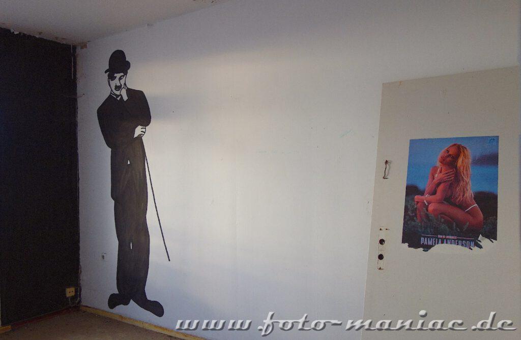 Zeichnung zeigt Charlie Chaplin