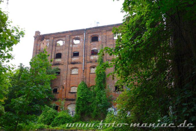 Blick auf die Fassade der Spritfabrik