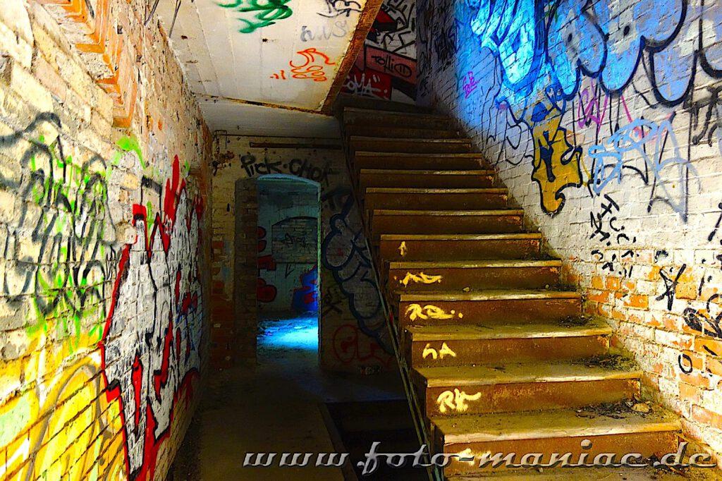 Treppe in der Spritfabrik Halle