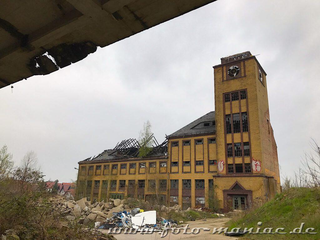 Glockenturm und Gebäude der Brauerei Sternburg