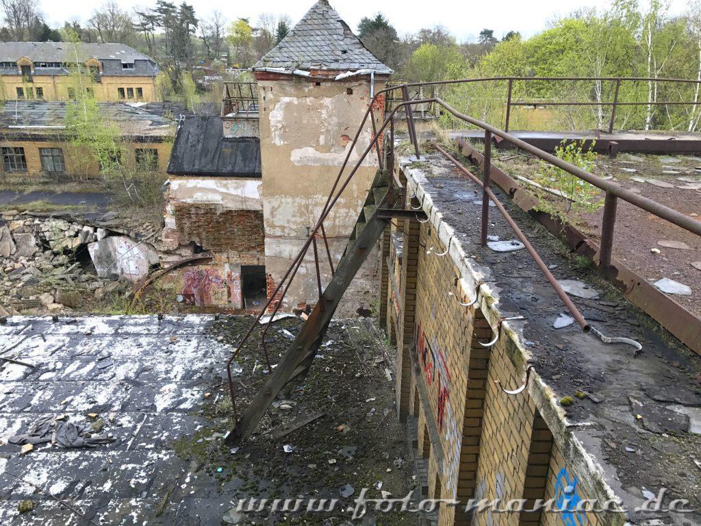 Blick von Dach der verlassenen Brauerei Sternburg