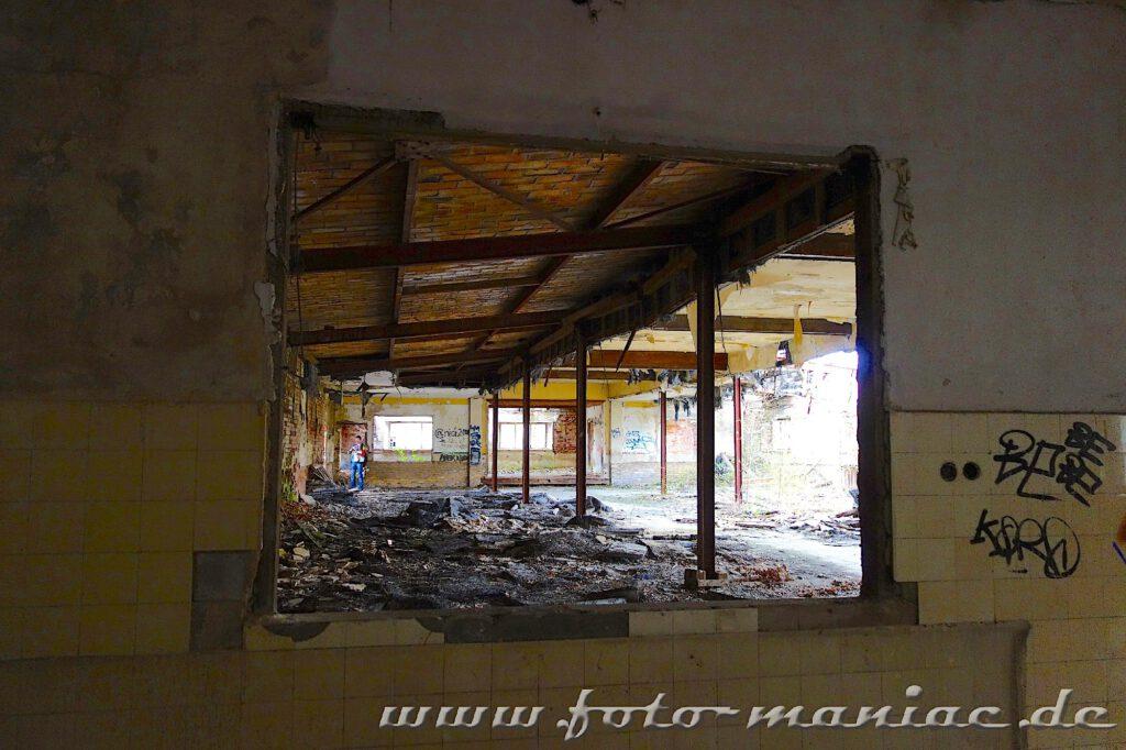 Überall Marodes in der verlassenen Brauerei Sternburg