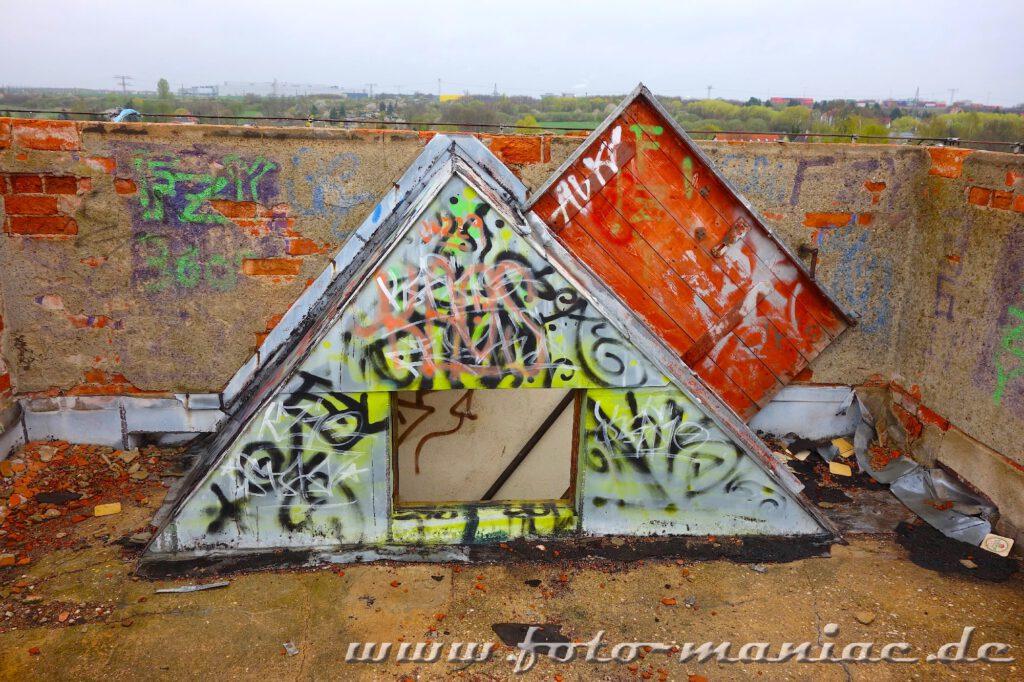 Auf dem Dach der verlassenen Brauerei Sternburg