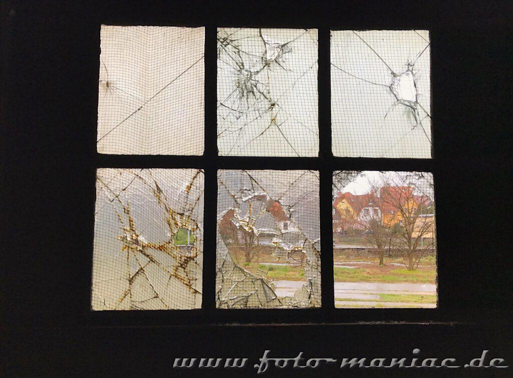 Kaputte Fensterscheiben