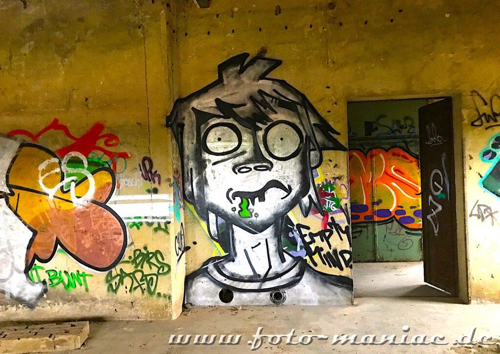 Graffiti in der verlassenen Brauerei Sternburg