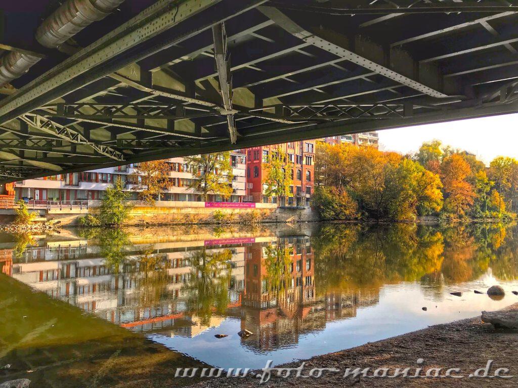 Fotogene Ecken in Halle - dazu zählt auch das Gebiet um die Gemzer Brücke