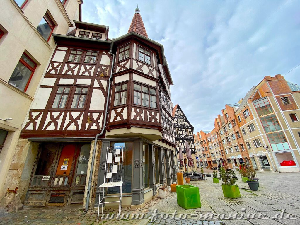 Alte und neue Gebäude in Harmonie