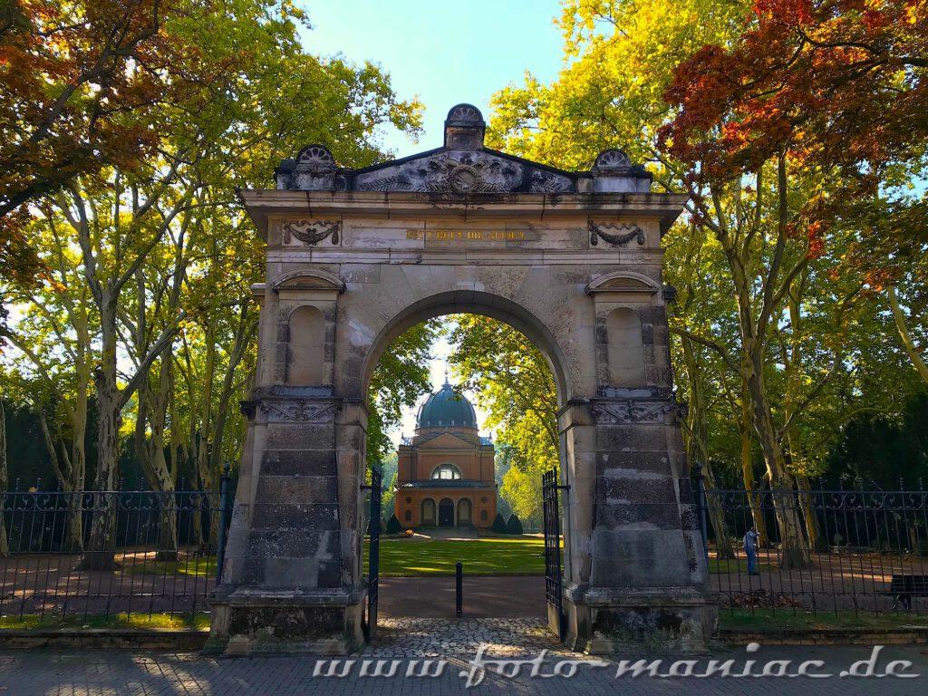 Eingangstor zum Südfriedhof