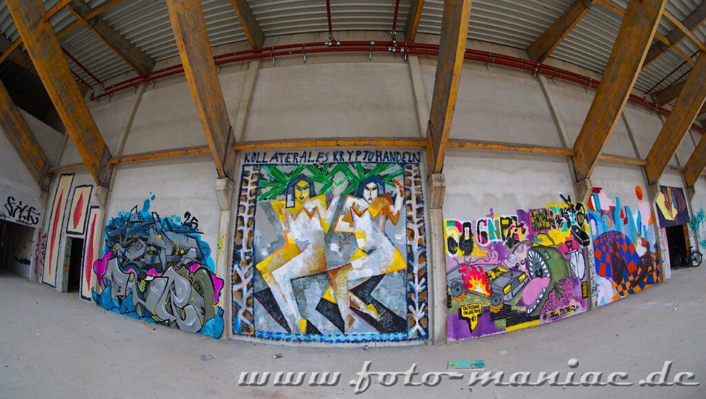 Bunte Wände - Graffiti im Sportkomplex