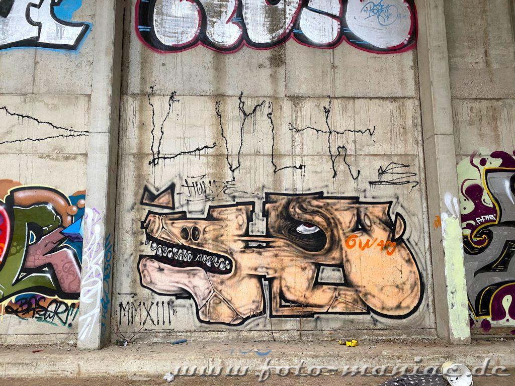 Graffiti auf der Wand