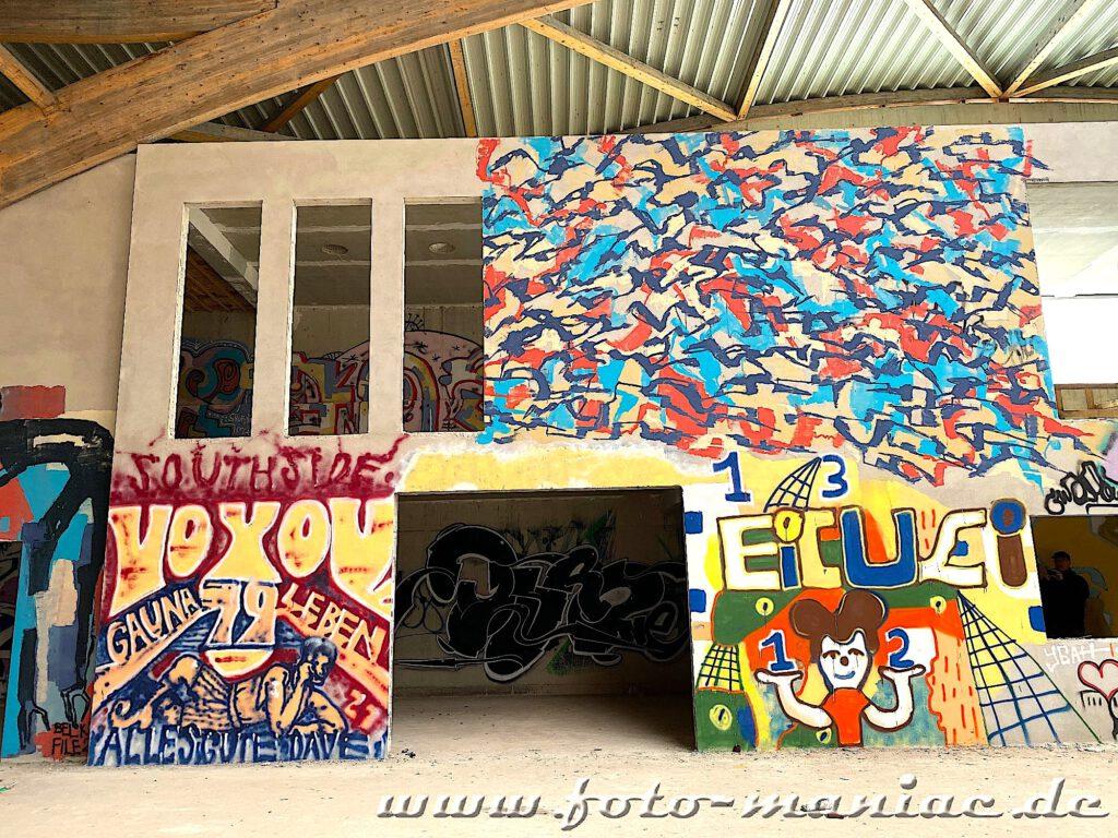 Überall bunte wände - Graffiti im Sportkomplex