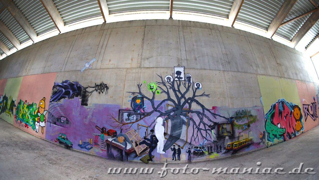 Nur für kurze Zeit - Graffiti im Sportkomplex