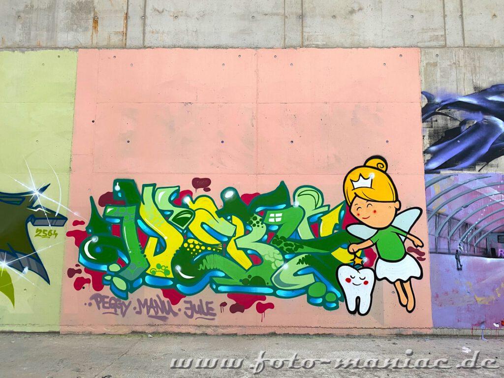 Graffito von der Zahnfee