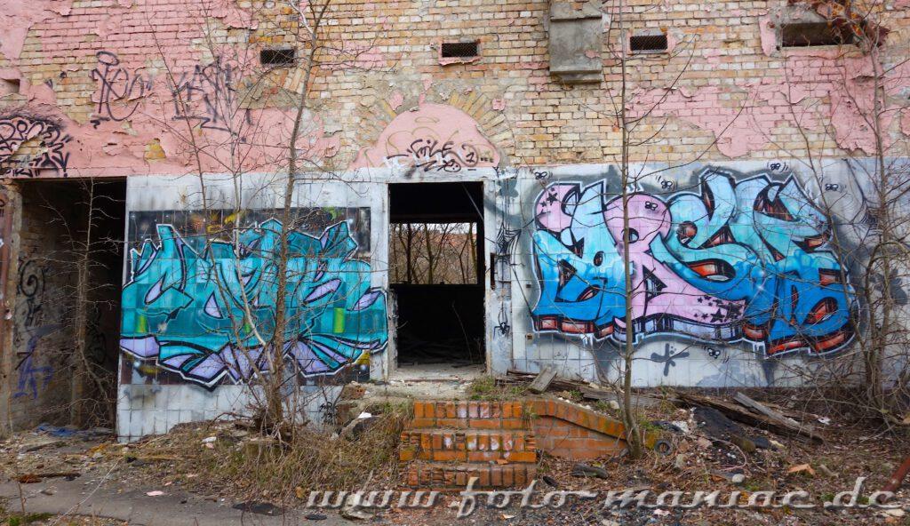 Graffiti an einem Gebäude der Brauerei