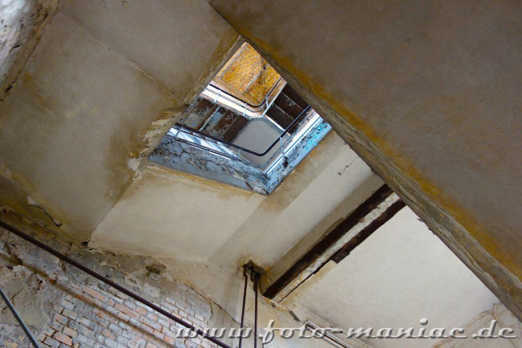 Treppenhaus in der Brauerei