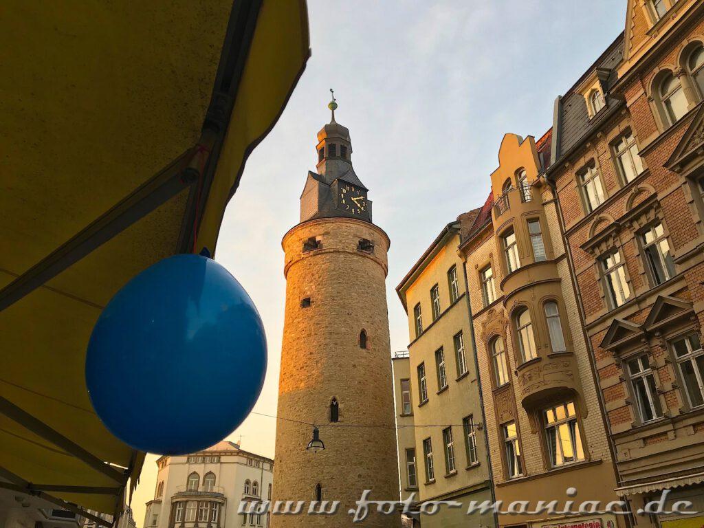 Der Leipziger Turm gehört zu den fotogenen Ecken in Halle