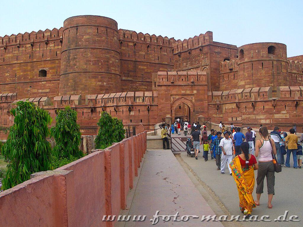 Das Foto Fort ist ein Highlight während der Bustour durch Indien