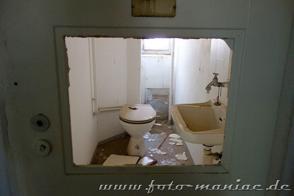 Blick in einen Toilettenraum im prächtigen Stadtbad Leipzig